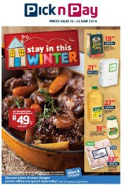Find Specials || Pick n Pay Stay in this Winter Specials