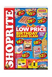 Find Specials || Shoprite Low Prices Birthday Grand Slam - Eastern Cape