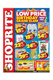 Find Specials || Shoprite Low Prices Birthday Grand Slam - Free State