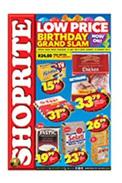 Find Specials || Shoprite Low Prices Birthday Grand Slam - Mpumalanga