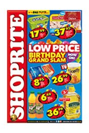Find Specials || Shoprite Low Price Birthday Grand Slam - Western Cape