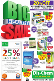 Find Specials || Big Healthy Save Dischem Specials