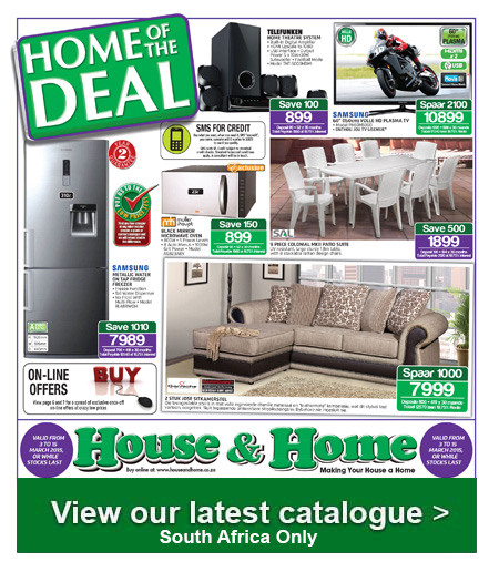 House and home weekly specials catalogue mar 3 2015 8 00am mar 15 2015 find specials Home furniture catalogue south africa