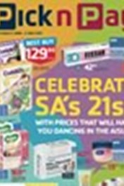 Find Specials || Pick n Pay Celebrate SA's 21st - Pharmacy