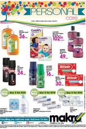 Find Specials || Personal Care Promotions at Makro