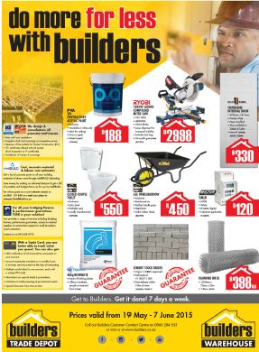 Builders Warehouse Specials Catalogues May 19 2015 8 00am