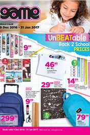 Game Back to School Specials