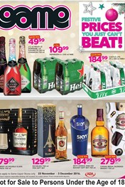 Game Liquor Deals