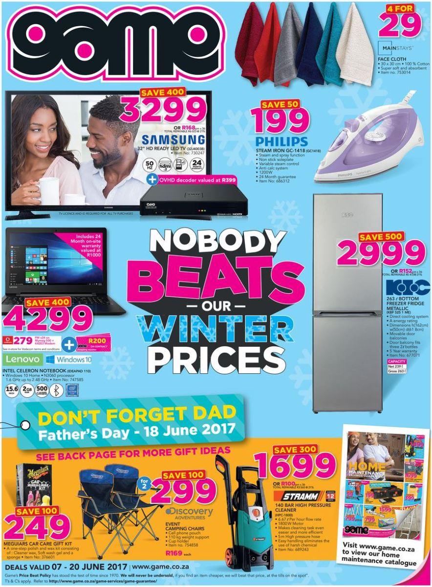 Game Winter Specials Catalogue 07 Jun 2017 20 Jun 2017