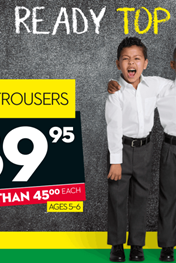 Find Specials || Ackermans Back to School Clothes