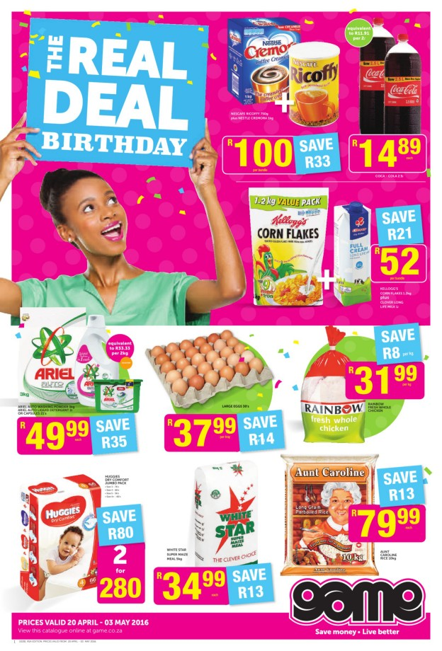 Game Weekly Food Specials Catalogue 20 Apr 2016 03 May