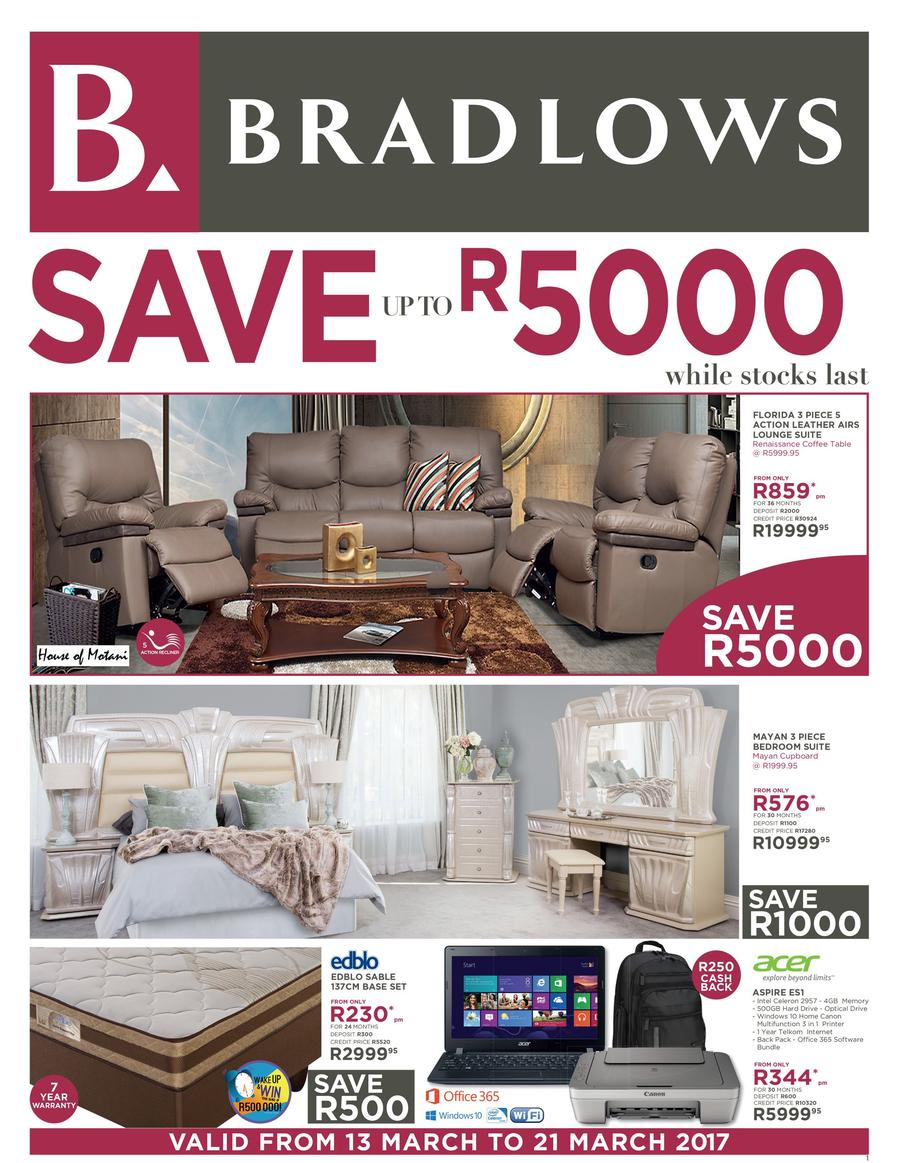 Bradlows Furniture Catalogue 13 Mar 2017 21 Mar 2017 Find Specials
