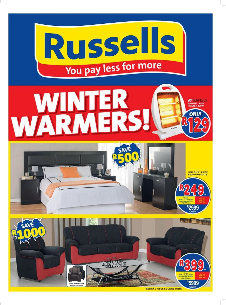 Russells joshua doore specials catalogue 22 may 2017 for X furniture catalogue
