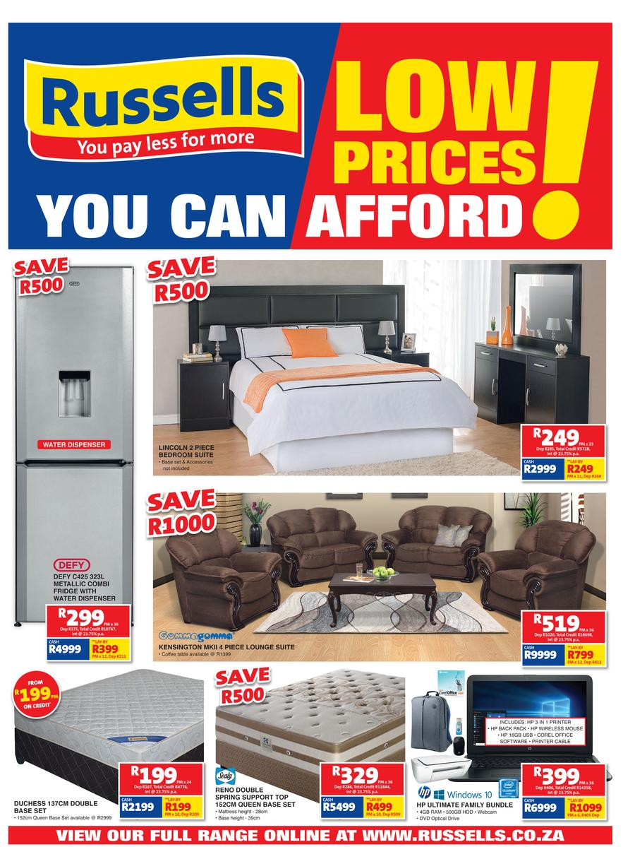 Russells joshua doore catalogues find specials for Affordable furniture catalogue