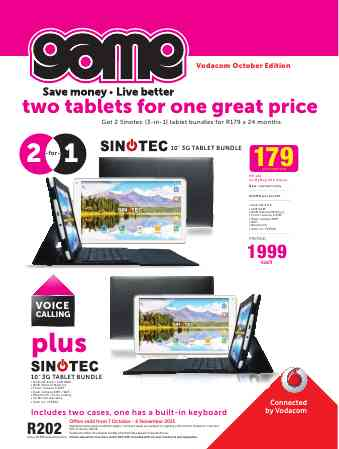 Game Vodacom Deals 07 Oct 2015 06 Nov 2015 Find Specials