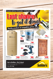 Builders Last Chance Specials