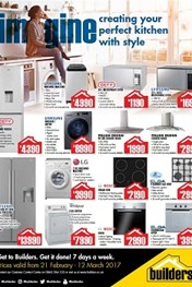 Builders  Warehouse Appliance specials
