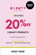 Find Specials || Woolworths Beauty Product Sale
