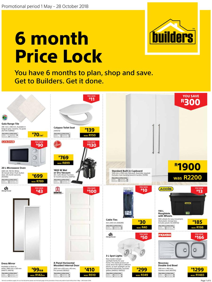 Builders warehouse catalogues find specials for Price builders