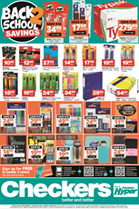 Find Specials || Checkers Back To School Deals