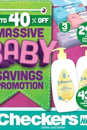 Find Specials || Gauteng, Limpopo, Mpumalanga, North West Checkers Baby Products Promotion