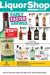 Great North Checkers Liquorshop Early Easter Savings