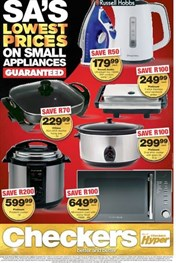 Find Specials || KZN Checkers Small Appliances Specials