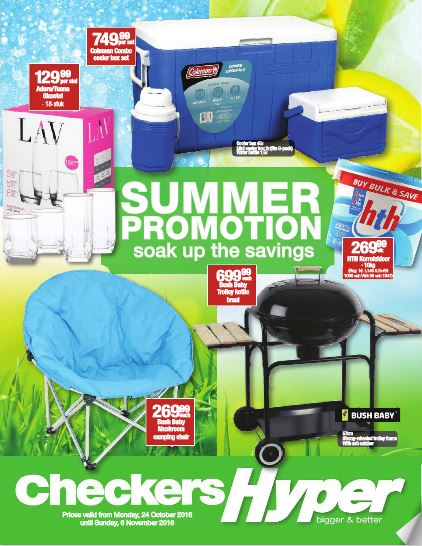 Checkers Hyper Summer Specials 24 Oct 2016 06 Nov 2016