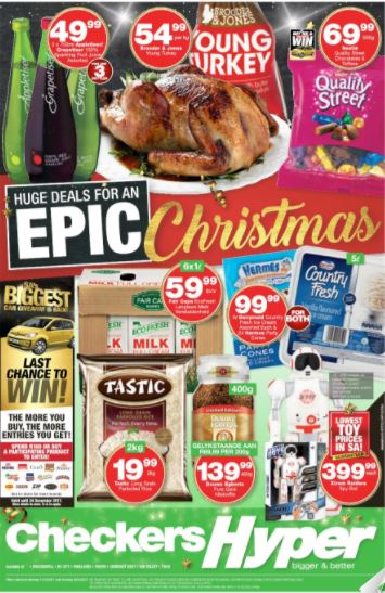 Checkers Hyper Christmas Specials 11 Dec 2017 26 Dec 2017 Find Specials