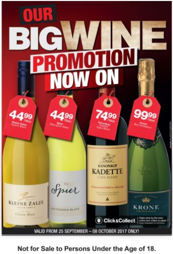 Western Cape Wine Promotion 25 Sep 2017 08 Oct 2017