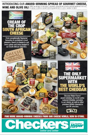 Kzn Checkers Cheese Promotion 24 Oct 2016 06 Nov 2016 Find Specials
