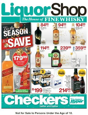 Kzn Checkers Liquor Promotion 24 Oct 2016 06 Nov 2016