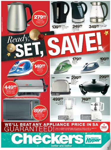 Kzn Checkers Small Appliances Sale 24 Oct 2016 06 Nov 2016 Specials Catalogues May 2020