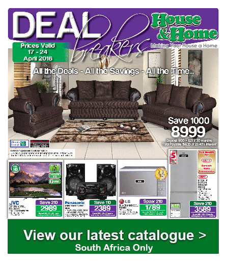 House And Home Weekly Specials 17 Apr 2016 24 Apr 2016 Find Specials