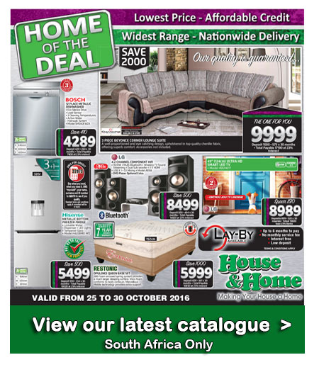 House And Home Specials Catalogue 25 Oct 2016 30 Oct 2016 Find Specials