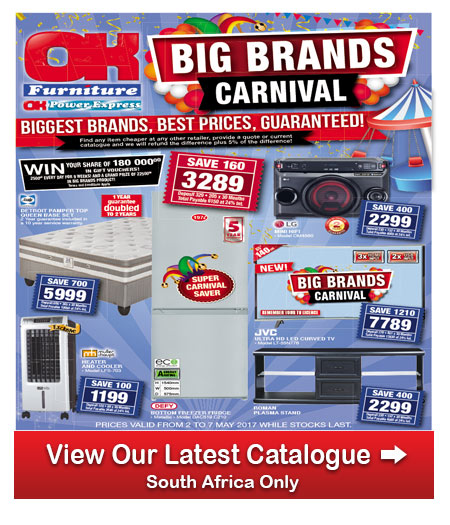 Ok furniture big brands sale 02 may 2017 07 may 2017 find specials Home furniture catalogue south africa