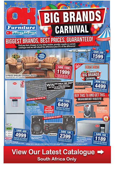Ok Furniture Specials And Deals 23 May 2017 28 May 2017