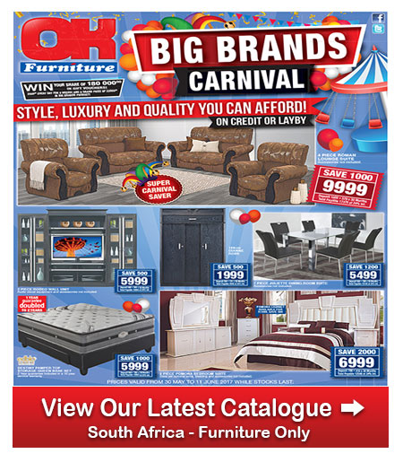 Ok furniture carnival specials 30 may 2017 11 jun 2017 for Affordable furniture catalogue