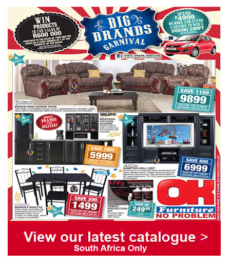 Ok furniture specials 12 apr 2016 24 apr 2016 find specials Home furniture catalogue south africa