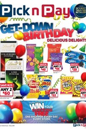 Find Specials || Pick n Pay Birthday Delights Promotion