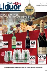 Find Specials || Pick n Pay Liquor Festive Deals