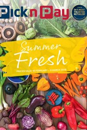Pick n Pay Summer Fresh Promotion