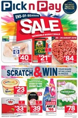 Find Specials || Western Cape Pick n Pay End of Season Deals