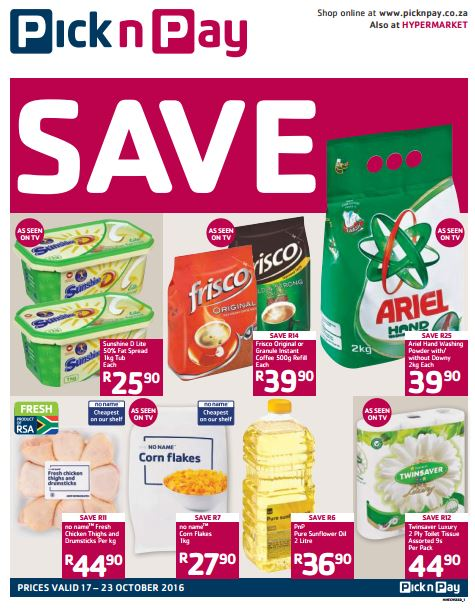 Eastern Cape Pick N Pay Specials 17 Oct 2016 23 Oct 2016