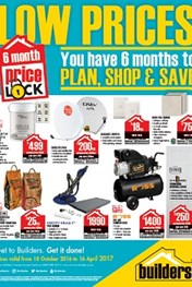 Builders Warehouse price lock down specials