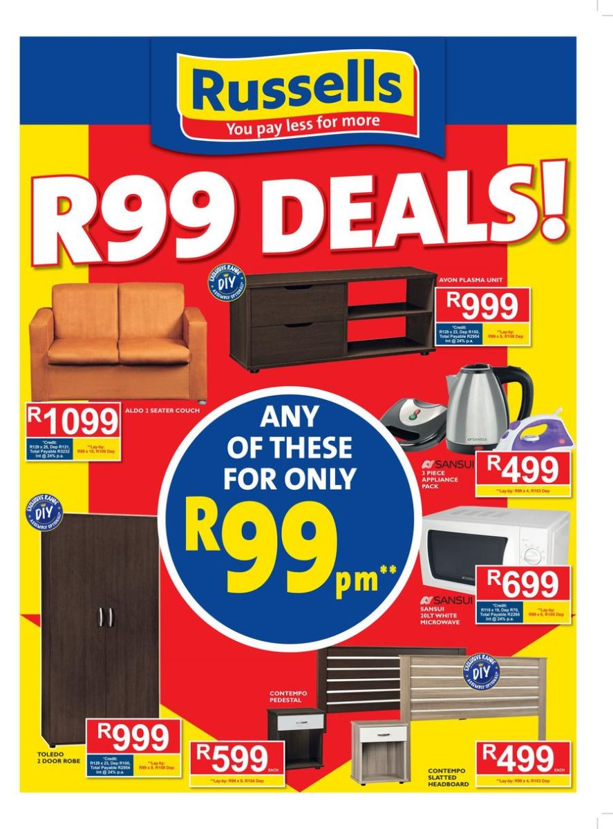 russells joshua doore specials catalogue 23 jan 2017 18 feb 2017 find specials. Black Bedroom Furniture Sets. Home Design Ideas