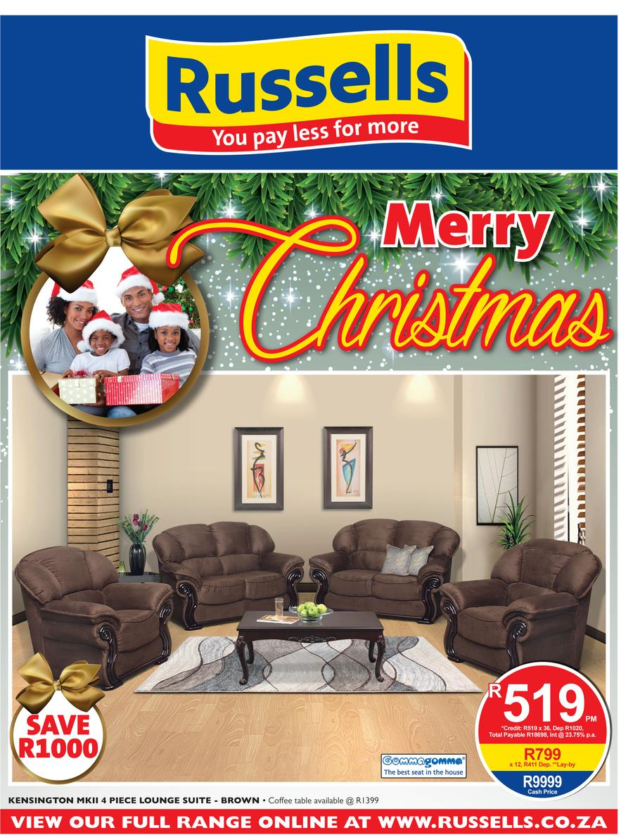 Russells christmas catalogue 22 nov 2017 24 dec 2017 for Affordable furniture catalogue