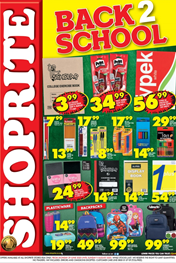 Shoprite Back to School Specials