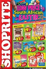Find Specials || Gauteng, Limpopo, Mpumalanga, North West Shoprite Easter Deals
