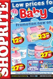 Find Specials || Gauteng, Limpopo, Mpumalanga, North West Shoprite Baby Promotion